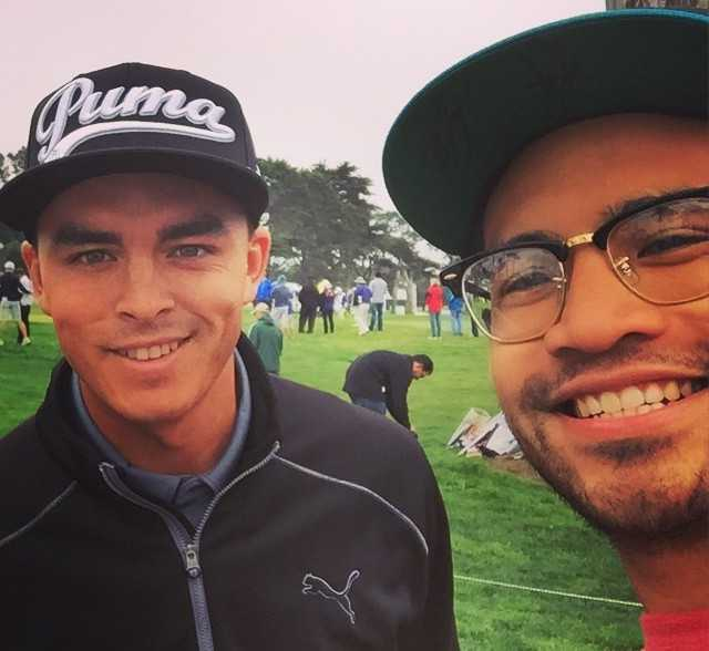 Me and Rickie Fowler